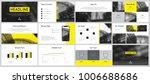 yellow business presentation... | Shutterstock .eps vector #1006688686