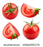 Tomatoes Collection Isolated O...