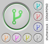 code fork color icons on sunk... | Shutterstock .eps vector #1006690960