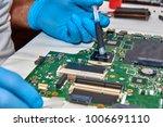 hands of the technician...   Shutterstock . vector #1006691110