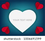 paper cut realistic valentine's ... | Shutterstock .eps vector #1006691599