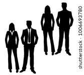 vector silhouettes of man and... | Shutterstock .eps vector #1006693780