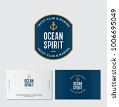yacht club logo. ocean spirit... | Shutterstock .eps vector #1006695049