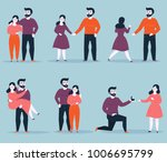 relationship stages of young... | Shutterstock .eps vector #1006695799