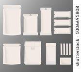 set of white blank packaging... | Shutterstock .eps vector #1006695808