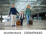 full length of happy family... | Shutterstock . vector #1006696660