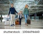 full length of happy family... | Shutterstock . vector #1006696660