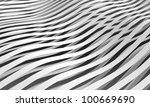 monochrome abstract 3d wave... | Shutterstock . vector #100669690