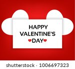 happy valentine's day card with ... | Shutterstock .eps vector #1006697323