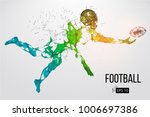 silhouette of a football player.... | Shutterstock .eps vector #1006697386
