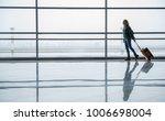 happy woman landing of the... | Shutterstock . vector #1006698004