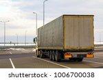 big cargo truck parked on a...   Shutterstock . vector #1006700038