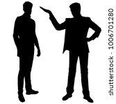 vector silhouettes of men ... | Shutterstock .eps vector #1006701280