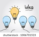 concept of idea and innovation. ... | Shutterstock .eps vector #1006701523