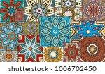 vector patchwork quilt pattern. ... | Shutterstock .eps vector #1006702450