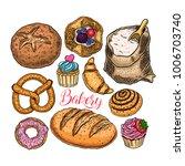 beautiful set of bakery... | Shutterstock .eps vector #1006703740