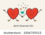 happy valentine's day   card... | Shutterstock .eps vector #1006705513