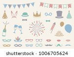 party icons   carnival  photo... | Shutterstock .eps vector #1006705624
