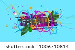 attractive 3d composition with... | Shutterstock . vector #1006710814