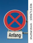 street sign beginning of no...   Shutterstock . vector #1006711336