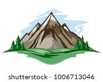 vector mountain landscape with... | Shutterstock .eps vector #1006713046