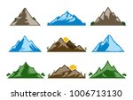 vector mountains icons isolated ... | Shutterstock .eps vector #1006713130