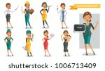 woman working in uniform... | Shutterstock .eps vector #1006713409