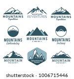 vector mountains logo isolated... | Shutterstock .eps vector #1006715446