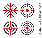 shooting target circles vector... | Shutterstock .eps vector #1006715689