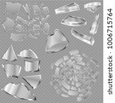 broken glass vector sharp... | Shutterstock .eps vector #1006715764