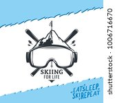 vector skiing logo. | Shutterstock .eps vector #1006716670