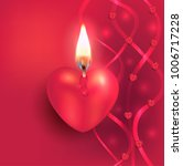 heart burning candle flame... | Shutterstock . vector #1006717228