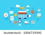 online shopping  eshop ... | Shutterstock .eps vector #1006719340