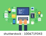 programming and coding  website ... | Shutterstock .eps vector #1006719343