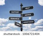help  support  advice  guidance ... | Shutterstock . vector #1006721404