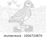 animal coloring page. adult... | Shutterstock .eps vector #1006723870