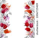 tulips vector card simple | Shutterstock .eps vector #1006725409