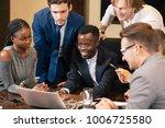 startup multiracial business... | Shutterstock . vector #1006725580