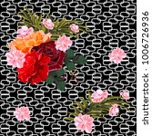 seamless pattern with beautiful ... | Shutterstock .eps vector #1006726936