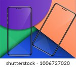 wallpapers are presented with a ... | Shutterstock .eps vector #1006727020