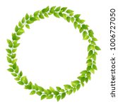 wreath of fresh green leaves.... | Shutterstock .eps vector #1006727050