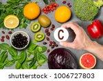 food rich in vitamin c. various ...   Shutterstock . vector #1006727803
