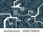 high tech electronic circuit... | Shutterstock .eps vector #1006730824