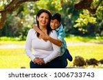 mother and son outdoor... | Shutterstock . vector #1006733743