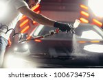 man wear protective mask and... | Shutterstock . vector #1006734754