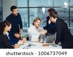 business people handshake... | Shutterstock . vector #1006737049