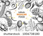 mexican food sketch label in...   Shutterstock .eps vector #1006738180