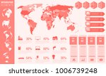 infographic elements with world ...   Shutterstock .eps vector #1006739248