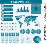 infographic elements with world ...   Shutterstock .eps vector #1006739260