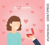 valentine's day proposal  girl... | Shutterstock .eps vector #1006739833